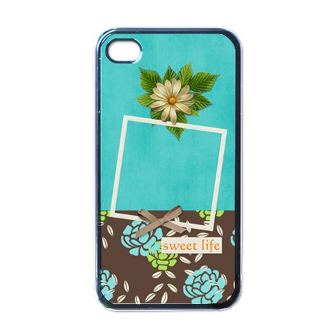 Iphone Case  Sweet Life By Jennyl   Apple Iphone 4 Case (black)   Swjs2vikkjxo   Www Artscow Com Front