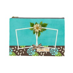 Large Cosmetic Case  Sweet Life By Jennyl   Cosmetic Bag (large)   Mxts0pp86svv   Www Artscow Com Front