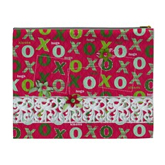 Hug & Kisses, Cosmetic Bag Xl By Mikki   Cosmetic Bag (xl)   51bk23cf6q3s   Www Artscow Com Back