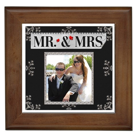 Mr  & Mrs  Framed Tile By Lil    Framed Tile   Xenqt2u7zc7b   Www Artscow Com Front