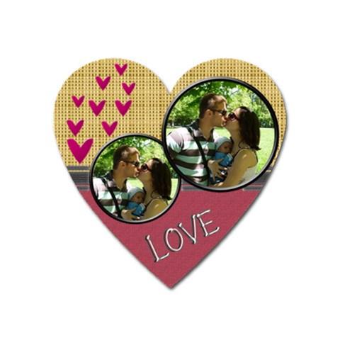 Love Magnet By Daniela   Magnet (heart)   T0qvc7usrrsh   Www Artscow Com Front