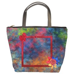 Tye Dyed Bucket Bag 1 By Lisa Minor   Bucket Bag   Y09i23ag7zkm   Www Artscow Com Front