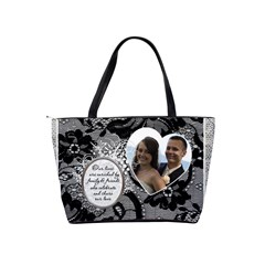 Maid Of Honor Black Lace Handbag (american English Spelling) By Lil    Classic Shoulder Handbag   Jicegb0bjb8q   Www Artscow Com Back