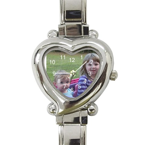 Church Watch By Angela Moffett   Heart Italian Charm Watch   7357r0qev6ow   Www Artscow Com Front