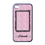 Pink Zebra-iphone case template (black) - Apple iPhone 4 Case (Black)