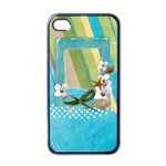 Beach, travel-iphone case template (black) - Apple iPhone 4 Case (Black)