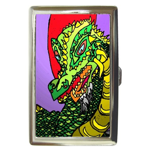 Angry Dragon By Alienjunkyard   Cigarette Money Case   Jhnt20pksf30   Www Artscow Com Front