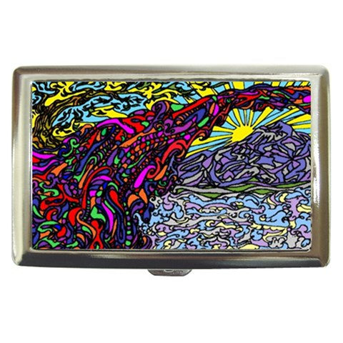 Rainbow Bridge By Alienjunkyard   Cigarette Money Case   525es8kwojra   Www Artscow Com Front