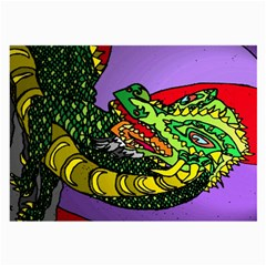 Angry Dragon By Alienjunkyard   Large Glasses Cloth (2 Sides)   9sd839sndgdz   Www Artscow Com Front