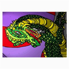 Angry Dragon By Alienjunkyard   Large Glasses Cloth (2 Sides)   9sd839sndgdz   Www Artscow Com Back