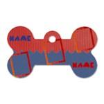 Name dog tag - Dog Tag Bone (One Side)