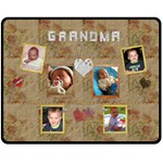 For Grandma Medium Fleece Blanket - Fleece Blanket (Medium)