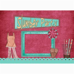 Sleepover Party Invitation By Lisa Minor   5  X 7  Photo Cards   Bnr2c9soc8cm   Www Artscow Com 7 x5 Photo Card - 7