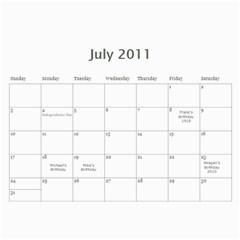 Frank s Calendar By Linda Mantor James   Wall Calendar 11  X 8 5  (12 Months)   Md04ktxz2kqc   Www Artscow Com Jul 2011