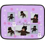 Mini Fleece Blanket - The Joys of Winter - Fleece Blanket (Mini)