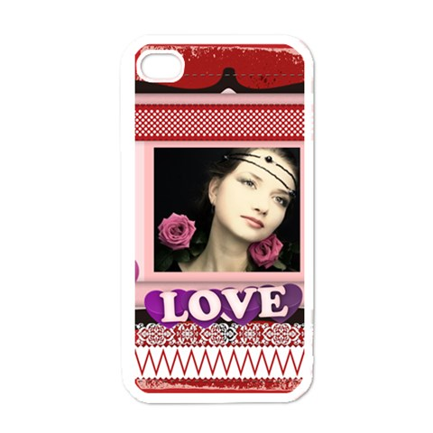 Love Case By Joely   Iphone 4 Case (white)   X8wry0aqc808   Www Artscow Com Front