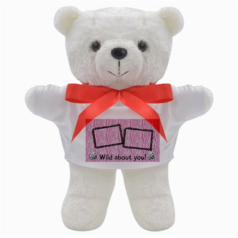 Wild About You, Pink Zebra  Teddy Bear By Mikki   Teddy Bear   Zwmeezmb77cu   Www Artscow Com Front