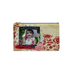 Bliss Cosmetic Bag By Cherish Collages   Cosmetic Bag (small)   Utosn86h8bhl   Www Artscow Com Front