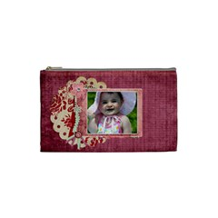 Bliss Plum Cosmetic Bag By Cherish Collages   Cosmetic Bag (small)   Rv482mcr6cov   Www Artscow Com Front