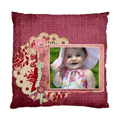 Bliss Plum Cushion by Cherish Collages Front