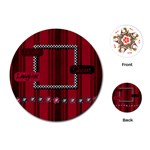 Fuchsia Ruckus Round Playing Cards 1 - Playing Cards (Round)