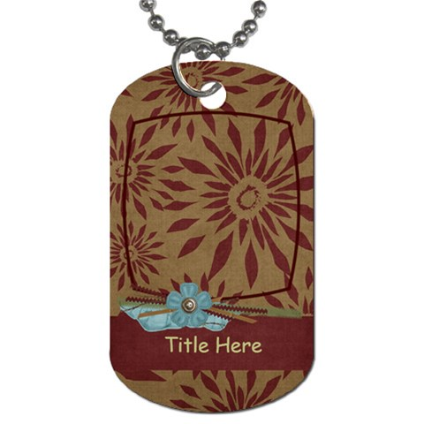 Moments Tag By Bitsoscrap   Dog Tag (one Side)   Yajkai5a5wvv   Www Artscow Com Front