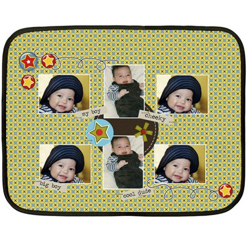 Mini Fleece Blanket   My Boy By Jennyl   Fleece Blanket (mini)   Fmypsa2x7h7t   Www Artscow Com 35 x27 Blanket