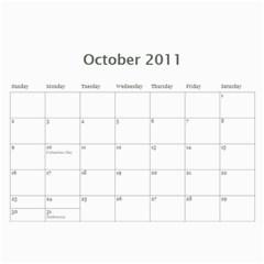 2011 Cal By Debi King   Wall Calendar 11  X 8 5  (12 Months)   Gnk4b2x88n6n   Www Artscow Com Oct 2011
