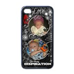 4Christina s IPHONE4 - Apple iPhone 4 Case (Black)