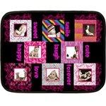 Funky Furs Fuschia Mini Fleece - Mini Fleece Blanket