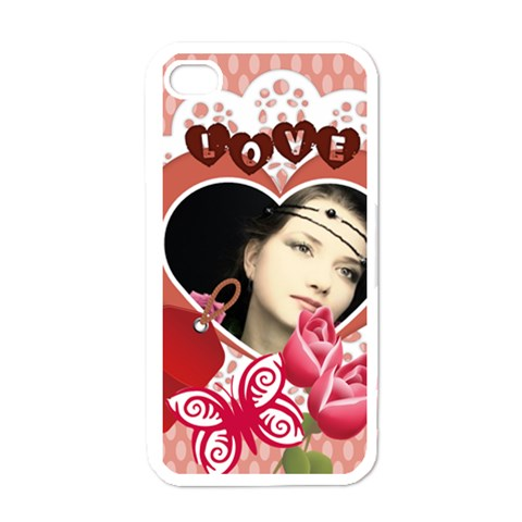 Love Case By Joely   Apple Iphone 4 Case (white)   R9zbralmutnv   Www Artscow Com Front