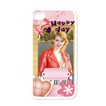 love of happy  - Apple iPhone 4 Case (White)