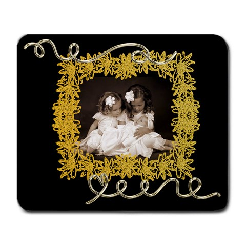 Golden Daisy Large Mousemat By Catvinnat   Large Mousepad   O88v15xtvi8w   Www Artscow Com Front