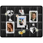 A Moment To Remember XL Fleece Wedding Blanket - Fleece Blanket (Large)