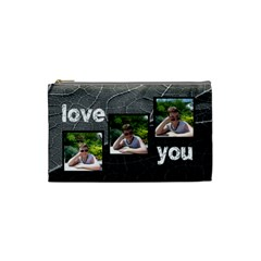 Love You Monochrome Jungle Small Cosmetic Bag By Catvinnat   Cosmetic Bag (small)   M15e0o41pihu   Www Artscow Com Front