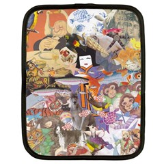 Colourful Collage Netbook Case (Large) by kewzooA