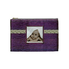 Purple Python Medium Makeup Bag By Catvinnat   Cosmetic Bag (medium)   Rqeqncvc12zm   Www Artscow Com Front