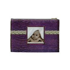 Purple Python Medium Makeup Bag By Catvinnat   Cosmetic Bag (medium)   Rqeqncvc12zm   Www Artscow Com Back