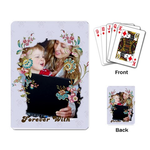 Pattern Of Kids  By Wood Johnson   Playing Cards Single Design   S34jk1fk2bpz   Www Artscow Com Back