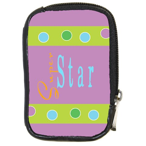 Super Star By Charlotte Young   Compact Camera Leather Case   Dwb10limh47r   Www Artscow Com Front