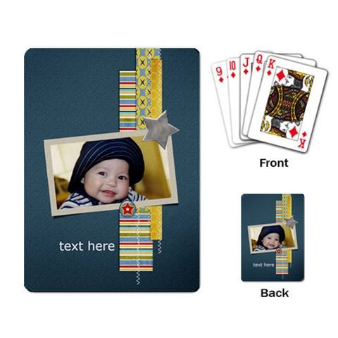 Playing Cards Single Design  Star1 By Jennyl   Playing Cards Single Design   Jln2z6o7d83d   Www Artscow Com Back