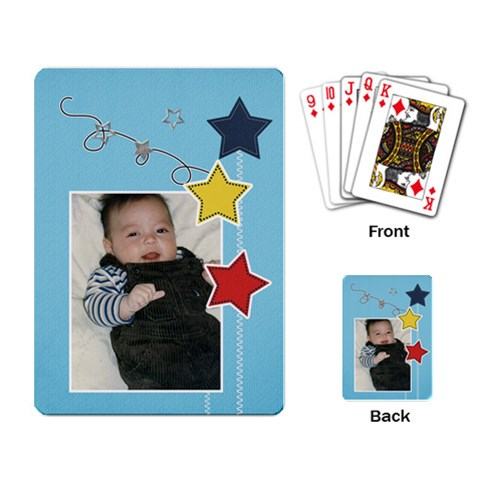 Playing Cards Single Design   Stars2 By Jennyl   Playing Cards Single Design   Tgfeqle506xb   Www Artscow Com Back