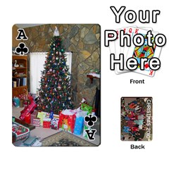 Ace Christmas 2010 Cards  By Cheri   Playing Cards 54 Designs   4nzj8p1f6f6c   Www Artscow Com Front - ClubA