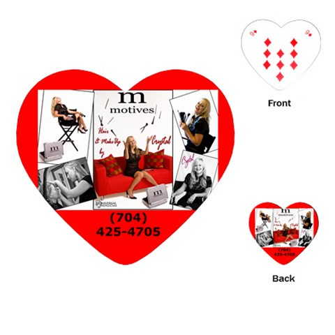 Crystal Cards By Vanessa Beaver   Playing Cards (heart)   Xovm9gq32w3i   Www Artscow Com Front