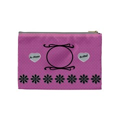 Be Happy Cosmetic Bag By Daniela   Cosmetic Bag (medium)   R1nfun3d6rn9   Www Artscow Com Back