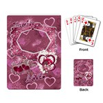 Love Pink Heart Rose Playing Cards - Playing Cards Single Design