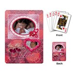 Love Pink Heart Rose2 Playing Cards - Playing Cards Single Design
