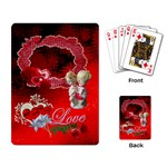 Love RED Heart Rose boy girl  Playing Cards - Playing Cards Single Design