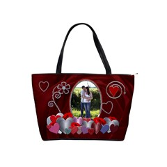 Red Hearts Classic Shoulder Handbag By Lil    Classic Shoulder Handbag   Bqrsxssbsqkj   Www Artscow Com Front