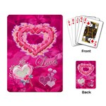 Love pink butterfly Heart Rose  - Playing Cards Single Design